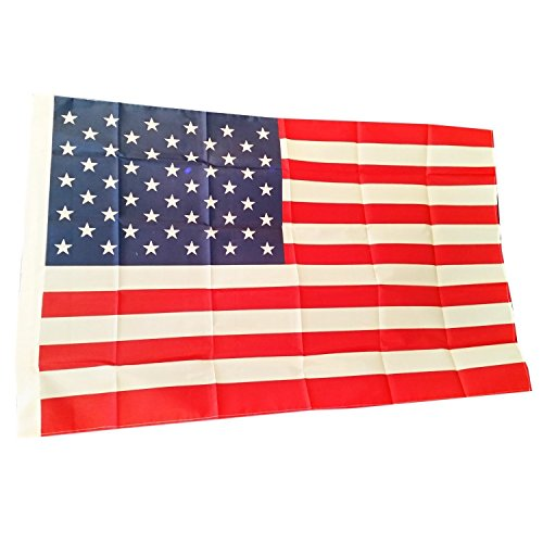 USA American Flag with Two Eyelets - 5 ft x 3 ft / 150 cm x 90 cm Stars and...