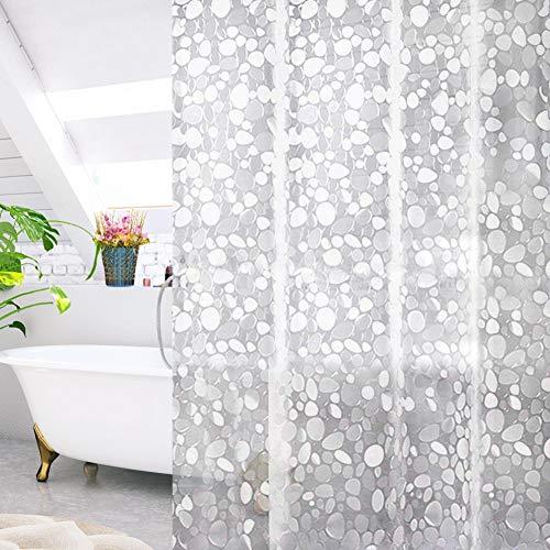 DIAOPROTECT Duschvorhang, Wasserdicht Anti-Schimmel Antibakteriell Eva Bad Vorhang,Badewanne Vorhang für Dusche Badezimmer,inkl.12 Duschvorhängeringen 0.15mm(180x200cm)