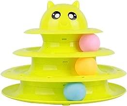 Yangyme Suministros para Mascotas Cat Toy Pet Interactive Fun Roller Exerciser Cat Turntable Ball de Tres Capas Cat Tower Funny Cat Stick Toy Cat Scratch Board Pet Garras Cat Supplies (Color : Green)