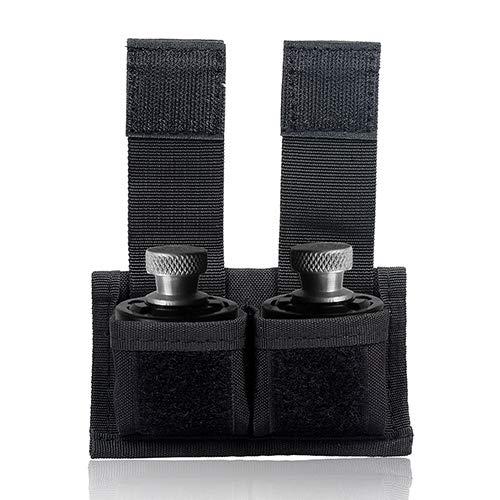 Gexgune Taktische Tasche Doppel Speedloader Beutel Gürtel Mag Halter Universal Fit S&W 38 .357 .57 Taurus 617 22 Mag Thru 44 Mag (4 Farbe optional)