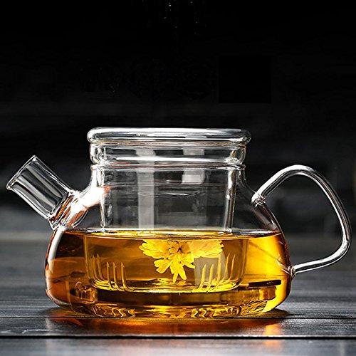 Cosy YcY Tetera de cristal con infusor, tetera con colador para té...