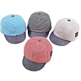 Baby Boy Baseball Cap Striped Sunhat Letter Sun Protection Hat...