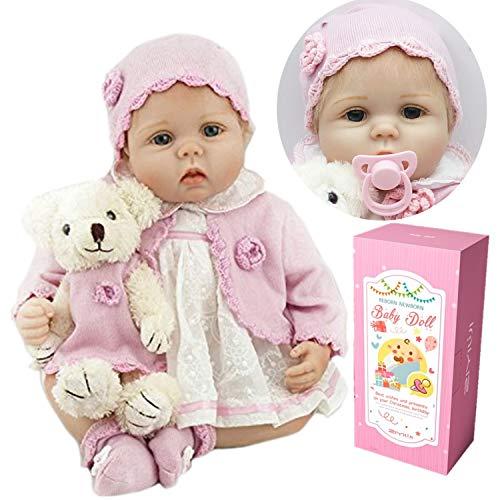 ZIYIUI Reborn Babypop Meisje 22 Inch 55cm Zachte Siliconen Vinyl Echt Uitziende Levende Baby Levensecht Goedkoop Magnetisch Speelgoed Vakantie Geschenken Reborn Poppen Reborn Doll