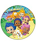 7.5 Inch Edible Cake Toppers –Bubble Guppies Themed Birthday Party Collection of Edible Cake Decorations