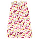 Luvable Friends Unisex Baby Sleeveless Jersey Cotton Sleeping Bag, Sack, Blanket, Flowers Jersey, 0-6 Months