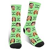 Socken Personalisiert Lustige, Witzige Socken Mit Foto, Verrückte Socken Damen Herren,Familiensocken zum Jubiläum