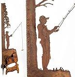 ARBLIN Cut Hand Saw Metal Art Wall Decor, Vintage Handsaw Blade Design, Rustic Look Hanging Ornament, Father's Birthday Unique Gift Metal Art Tree - Fishing Saw (C1PC)