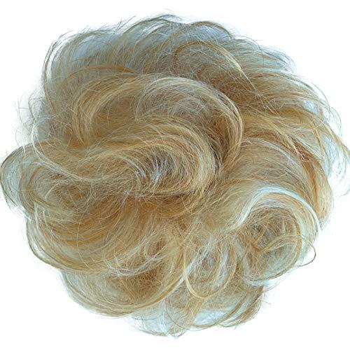PRETTYSHOP 100% ECHTHAAR Haargummi Haarteil Haarverdichtung Zopf Haarband Haarschmuck Blond Mix H312a