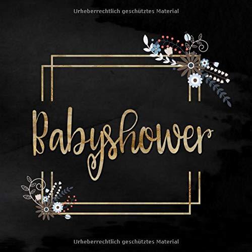 Baby Shower: Buntes Gästebuch zur Babyshower | Fotoalbum und Gästebuch mit viel Platz für...