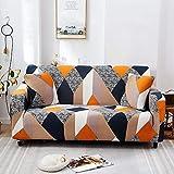 PPOS Elastische Stretch Schonbezüge Sofa Sectional Sofa Cover für Wohnzimmer Couch Cover Single C12 3 Sitze 190-230cm-1pc