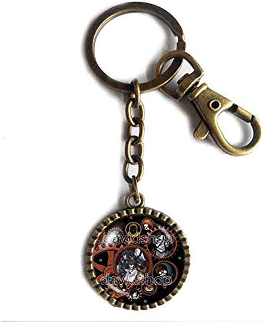 Handmade Cute For Friend Creepypasta CREEPY PASTA TICCI TOBY Keychain Key Chain Key Ring Cute Keyring Car Steampunk Eyeless jack JEFF THE KILLER Gear Cosplay