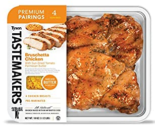 Tyson Tastemakers Premium Pairings Bruschetta Chicken with Sun-Dried Tomato Parmesan Butter, Serves
