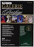 Ilford Galerie Gloss - Pack 25 Hojas de Papel A4, Color Blanco