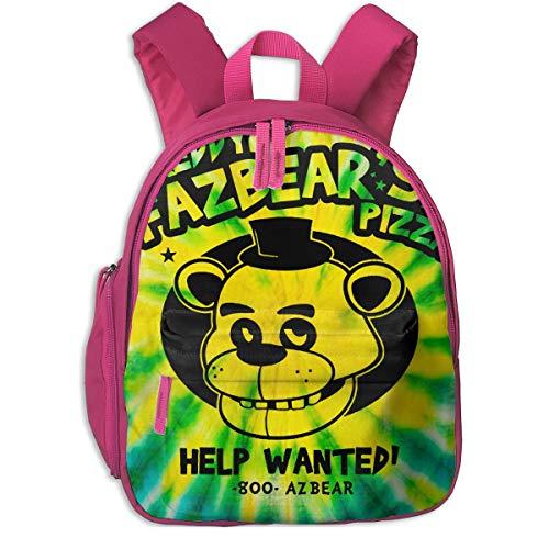 dfdsf Freddy Fazbear S Pizza Kinderrucksack Süße Büchertaschen Leichte Schultasche für Mädchen und Jungen