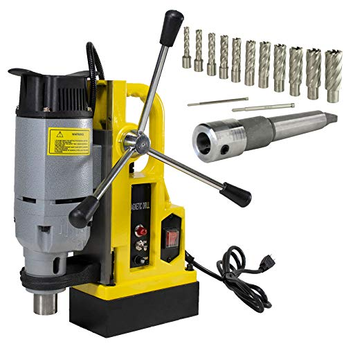 Steel Dragon Tools MD25 Magnetic Drill Press with MT3 Spindle Taper and 13 Piece 2in. Cut Depth Annular Cutter Kit