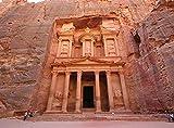 XiuTaiLtd Adulto Jigsaw Puzzle Ciudad Arqueológica Petra Patrimonio De La Humanidad Jordan 1000 Piezas