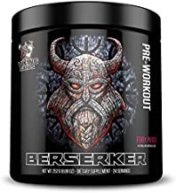 Viking Supps Berserker Pre-Workout, with Creatine, Beta-Alanine, and Caffeine for Energy, Fury Punch (Fruit Punch) Flavor, 24 Servings