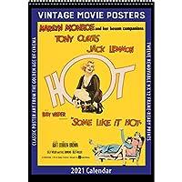 2021年ビンテージ映画ポスターカレンダー。