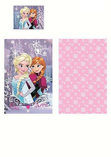 Parure de lit LA REINE DES NEIGES Frozen Disney 90x140cm + 1 taie 40x55cm 100% coton