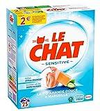 Le Chat Sensitive - Lessive en Poudre Hypoallergénique - Lait d'Amande Douce & Marseille - 25 Lavages