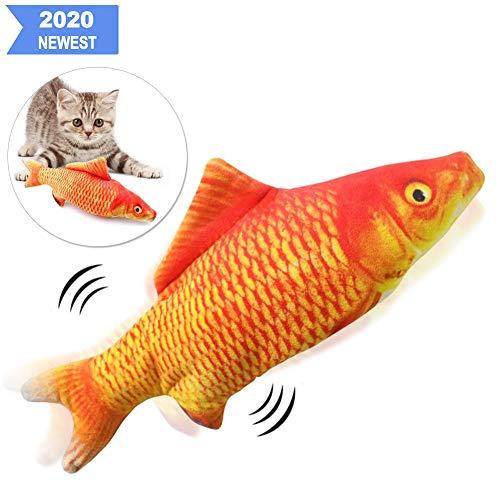 Sunshine smile elektrische Fische Katze,katzenminze Fisch Spielzeug,katzenspielzeug Fisch elektrisch beweglich,Simulation Fisch,elektrische Fische plüsch,Katze interaktive Spielzeug (D)