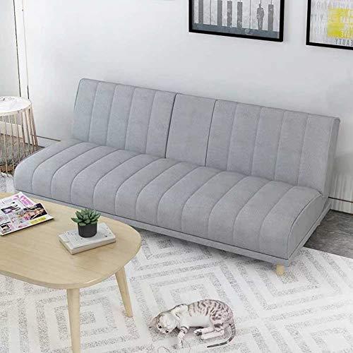 RJMOLU Futon Sofá Cama, Tela Moderna Acolchada con sofá, Sofá de salón Plegable Convertible con Mesa de café Ocultos y 4 Patas sólidas para Sala de Estar o Dormitorio,Gris