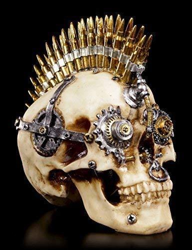 Steampunk Totenkopf Figur | Gears of War groß | Deko Schädel Skull