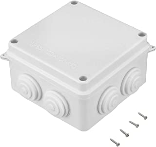 Awclub ABS Plastic Dustproof Waterproof IP65 Junction Box Universal Electrical Project Enclosure White 3.9