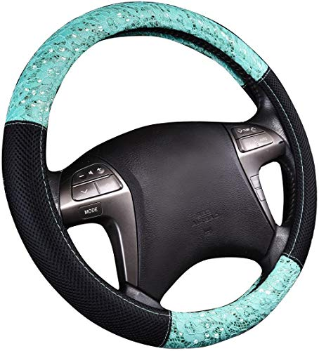 YHWW Auto Lenkradbezug, Mikrofaser Leder-Auto-Lenkrad-Abdeckung, Anti-Rutsch-Universal-atmungsaktiv für Auto/LKW/SUV/Van