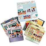 Social Behavior Learning Game - Social Communication and Emotional Skills Learning Flash Cards Activities for Pre-School Kindergarten on Awareness and Manners - 30 Scenarios with Guiding Questions