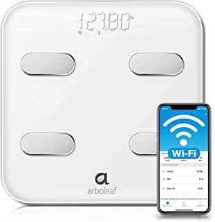 Arboleaf Smart Scale - Wi-Fi & Bluetooth Weight Scale, 14 Body Composition Monitor with iOS, Android APP, Wireless Cloud-Storage for Unlimited Data & Users, BMR, BMI Scales Digital Weight and Body Fat