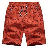 Pantalones Anchos Pantalones Cortos Casuales Algodon Shorts Verano con Bolsillo Pantalones Cortos Entrenamiento Hombre Fitness Pantalones Cortos Pantalones Personalizados 5019Rojo Ladrillo 3XL
