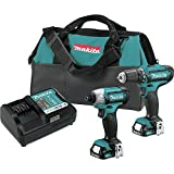 Makita CT226-R CXT 12V max Cordless Lithium-Ion 1/4 in. Impact Driver and 3/8 in. Drill Driver Combo Kit (Renewed)
