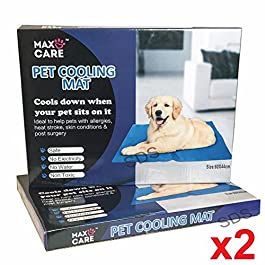 2 x Dog Cat Pet cooler Cooling Cool Gel Mat Bed Pad 60 x 44cm Blue By Pilot Imports®
