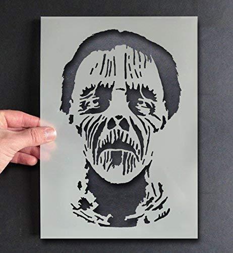Zombie Monster Gesicht Schablone Halloween Dekor & Basteln Schablone Farbe & Gestalte Zeichen,Wände, Stoffe, Möbel Wiederverwendbar … - 33x54cm