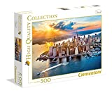 Clementoni-35038 Los Pingüinos De Madagascar Puzzle 500 pzas Collection New York, Multicolor (35038)