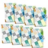 Vakoo Etiquetas para Equipaje, 8 Pack Equipaje Etiqueta Aluminio Equipaje Bolso ID Tag portatarjetas con Llavero, Etiquetas del Viaje Bolso del Equipaje de la Maleta