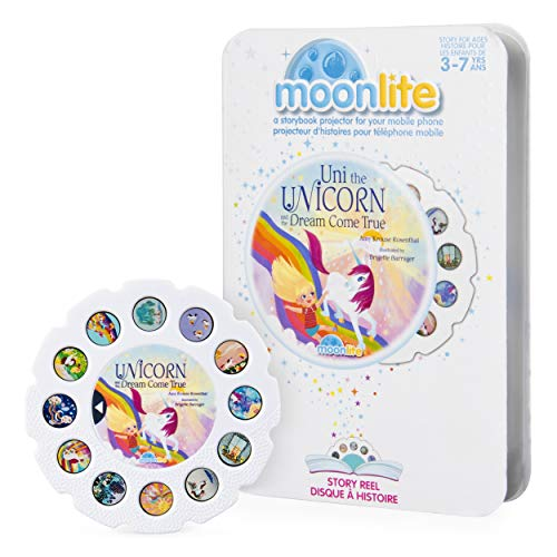 Moonlite - Uni the Unicorn and the Dream Come True Story Reel for Moonlite Storybook Projector, for Ages 3 and Up