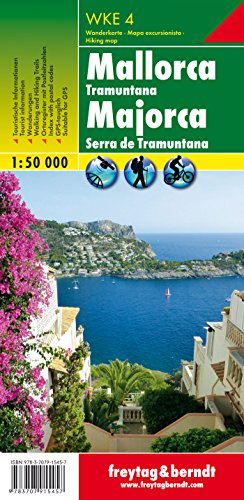 WKE 4 Mallorca - Tramuntana, Wanderkarte 1:50.000: Wander-Rad-Freizeitkarte - Maßstab 1:50.000 (freytag & berndt Wander-Rad-Freizeitkarten)