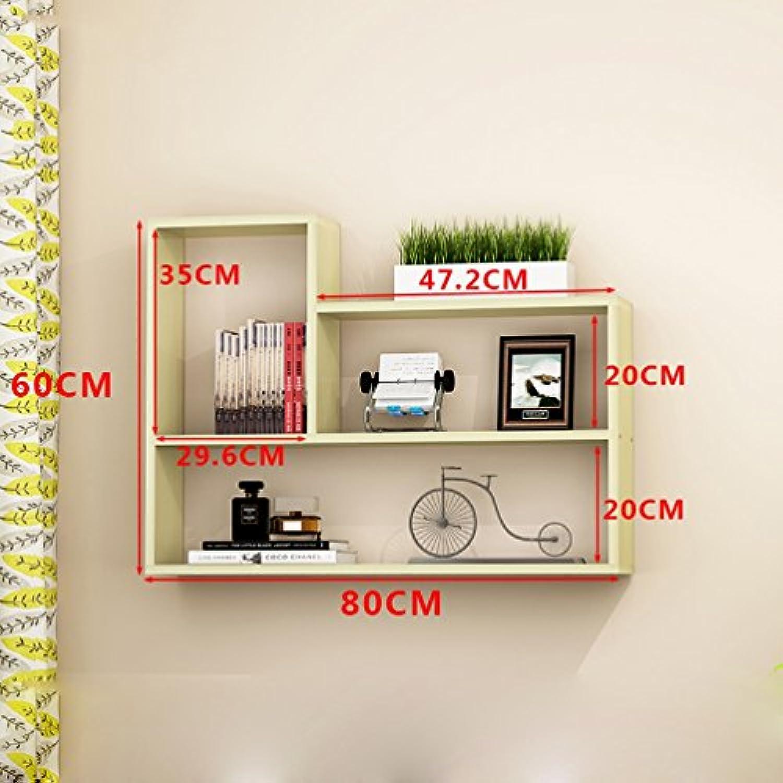 Shelf Clothes UK- Kreative Wohnzimmer Wandhalterung Bücherregal Moderne Einfache Wand Bücherregal Schrankwand Regale 80x60x15 cm Regal (Farbe   B)