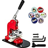VEVOR Button Badge Maker Machine with Button Parts and 1Inch Circle Cutter Button Maker 1000 Piece (25mm 1000 Buttons)