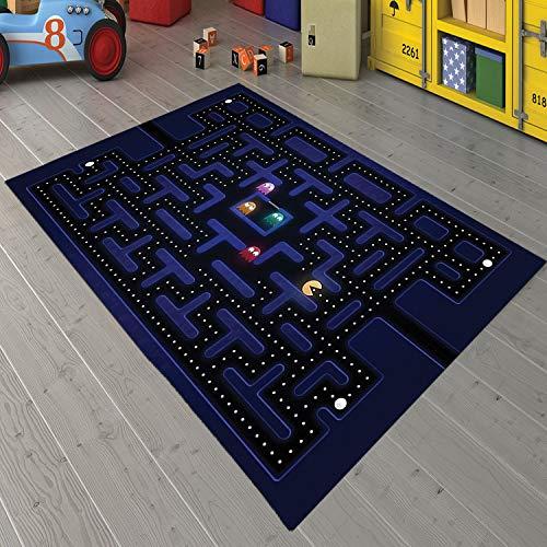 Pacman - Alfombra con motivos para sala de estar, antideslizante, alfombra para habitación de niños, regalo personalizado, alfombra temática gezcocuk-812.6 (63 x 90 pulgadas) = 160 x 230 cm