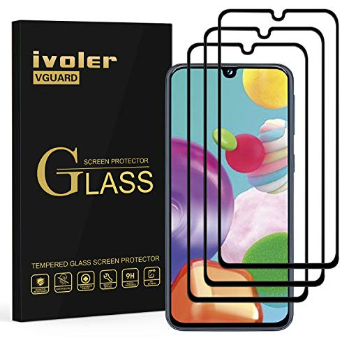 ivoler 3 Stücke Panzerglas Schutzfolie für Samsung Galaxy A41, [Volle Bedeckung] Panzerglasfolie Folie Hartglas Gehärtetem Glas DisplayPanzerglas für Samsung Galaxy A41