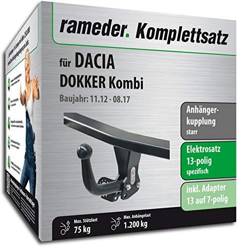 Rameder Komplettsatz, Anhängerkupplung starr + 13pol Elektrik für Dacia DOKKER (150401-10868-1)