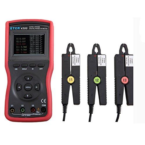 Dhmm123 Digital Kleine Chip-Stromzange Dreiphasen-Meter-Digital-Spannungs-Amperemeter Wechselstrom-Spannungs-Strom-Prüfvorrichtungs-Detektor ETCR 4300 Spezifisch