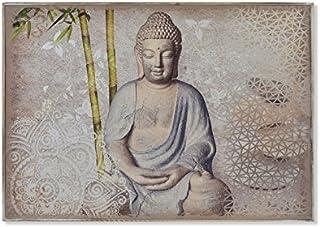 Dcasa - Tapa de contador diseño oriental buda gris