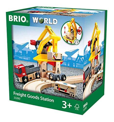 BRIO World 33280 Frachtverladestation – Eisenbahnzubehör für die BRIO Holzeisenbahn –...