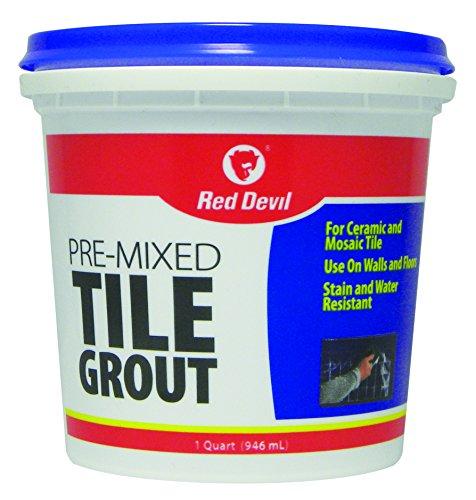 Red Devil 0424 Pre-Mixed Tile Grout, 1-Quart, White