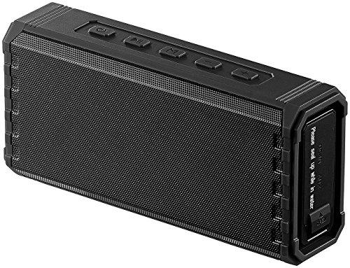 auvisio Tragbarer Lautsprecher: Outdoor-Lautsprecher, Bluetooth, Freisprecher, MP3-Player, 25 W, IPX7 (wasserdichte Lautsprecher)