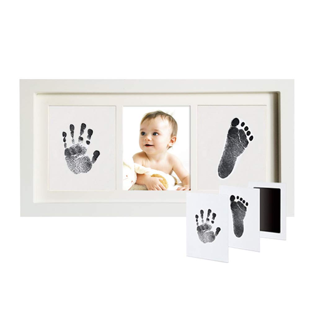 Baby Shower Gifts for Christening Registry NiceMeet Baby Handprint /& Footprint Kit Art Memorial Photo Frame Memorable Keepsake for Room Wall /& Table Decor Personalized Baby Gifts